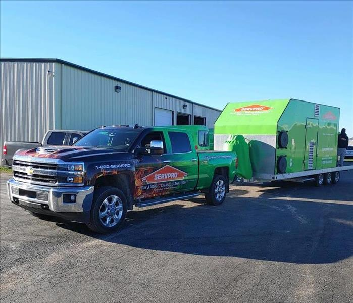 Here to Help - image of SERVPRO truck